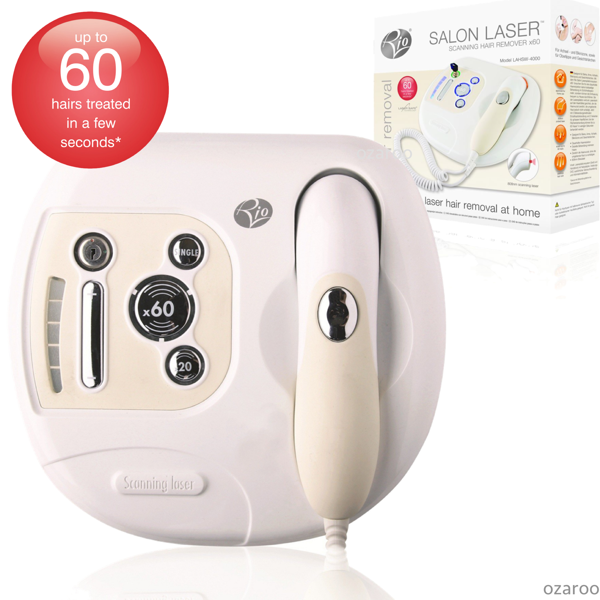 Rio Beauty Scanning Up to x 60 Hairs Laser Legs, Body Hair Removal System Device