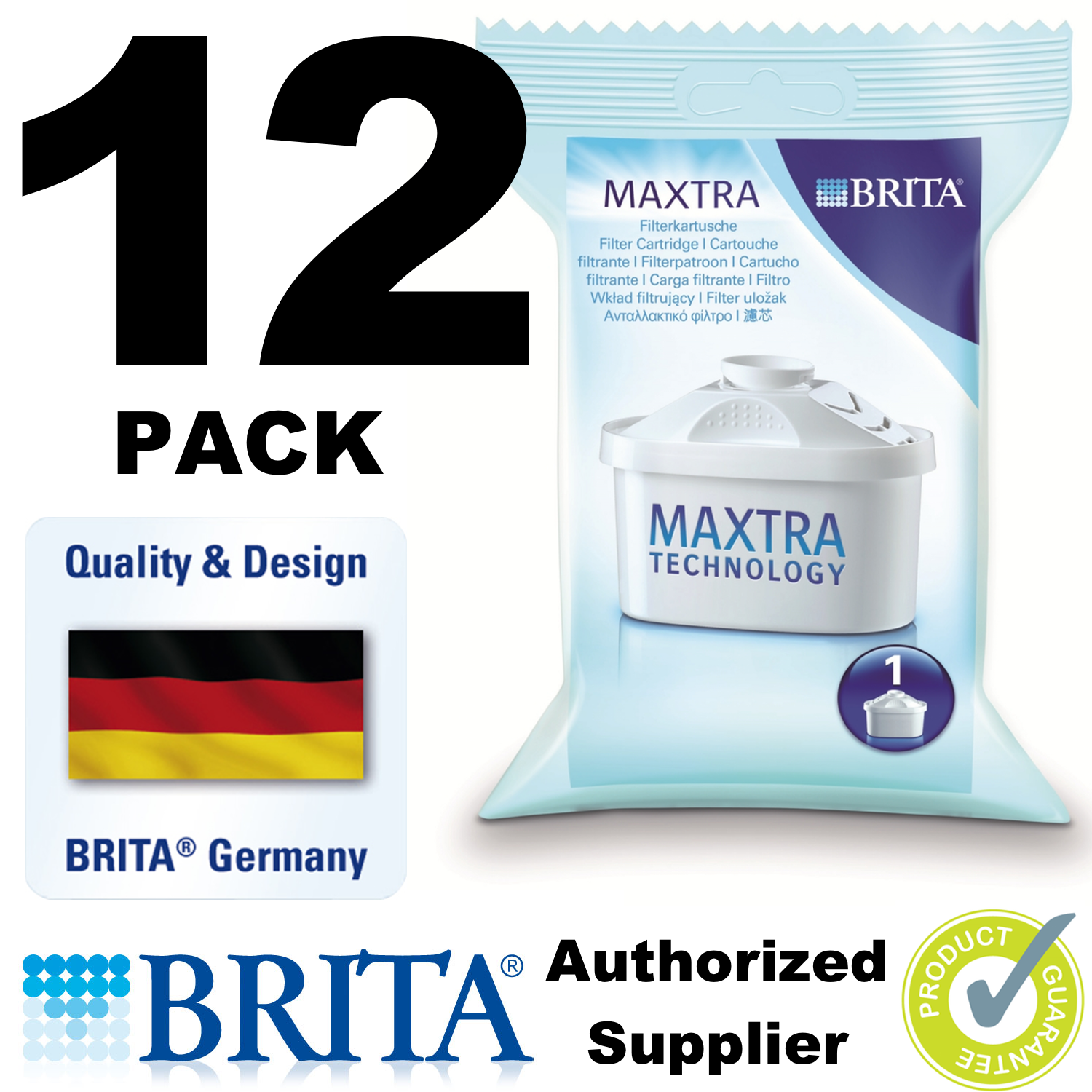 12 x BRITA Maxtra Water Filters Refills Cartridges Pack WF0400