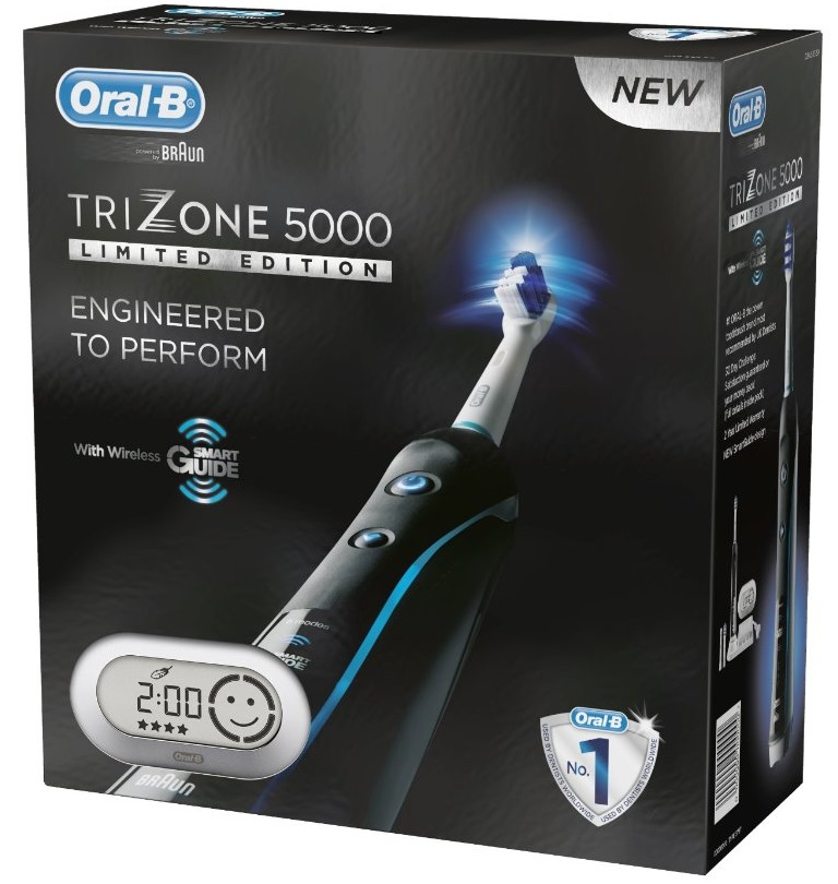 braun oral b trizone 5000 rechargeable electric toothbrush black limited edition ebay. Black Bedroom Furniture Sets. Home Design Ideas