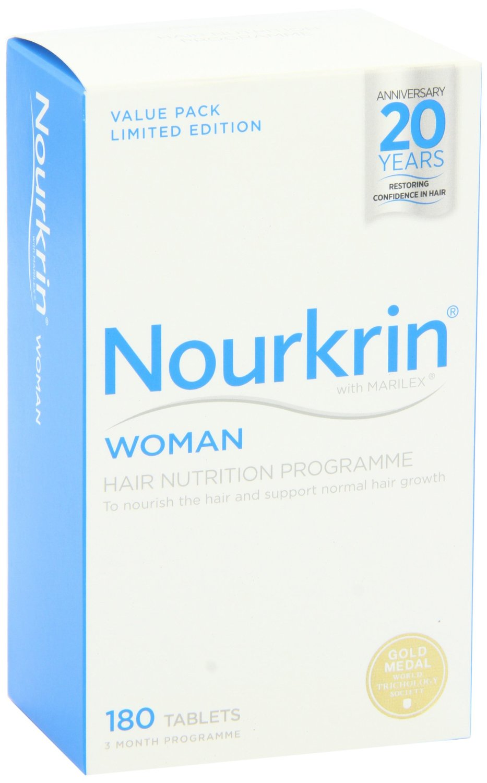 Nourkrin Woman 180 Tablets Hair Loss Supplement Nourishment 3 Months Supply