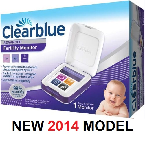 clearblue advanced fertility monitor touchscreen kit pregnancy test new model ebay. Black Bedroom Furniture Sets. Home Design Ideas