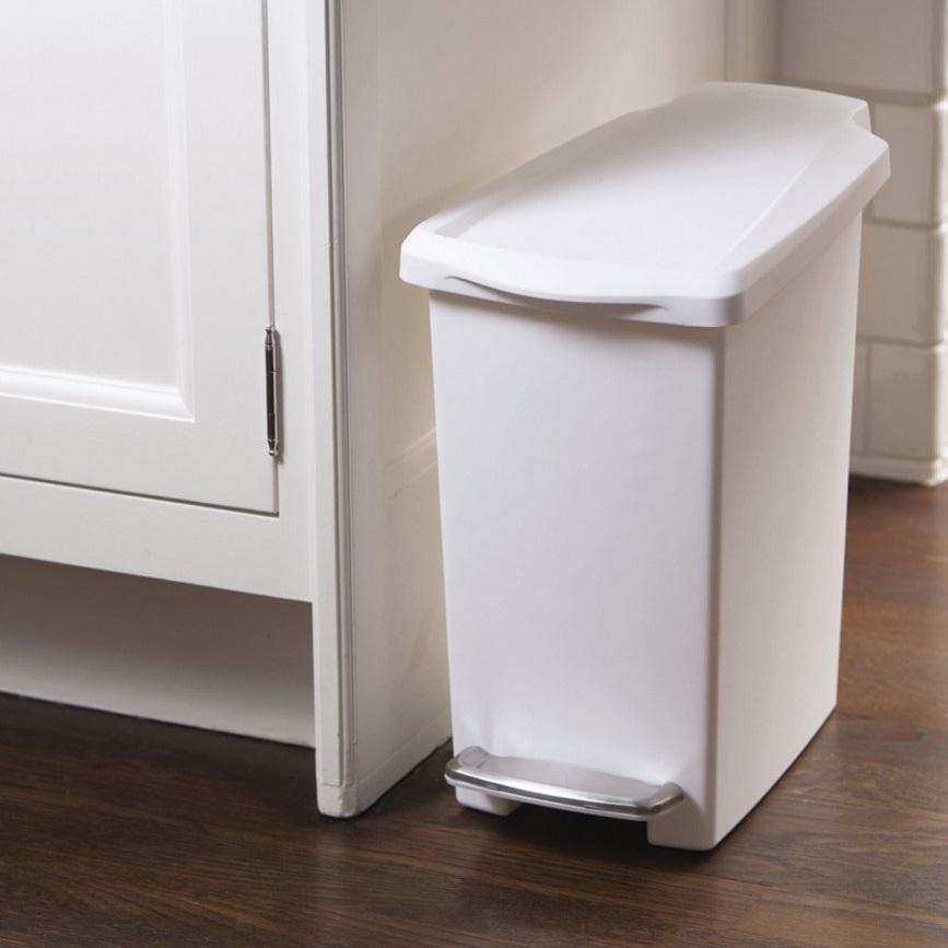simplehuman 10 litre mini modern slim plastic pedal waste. Black Bedroom Furniture Sets. Home Design Ideas