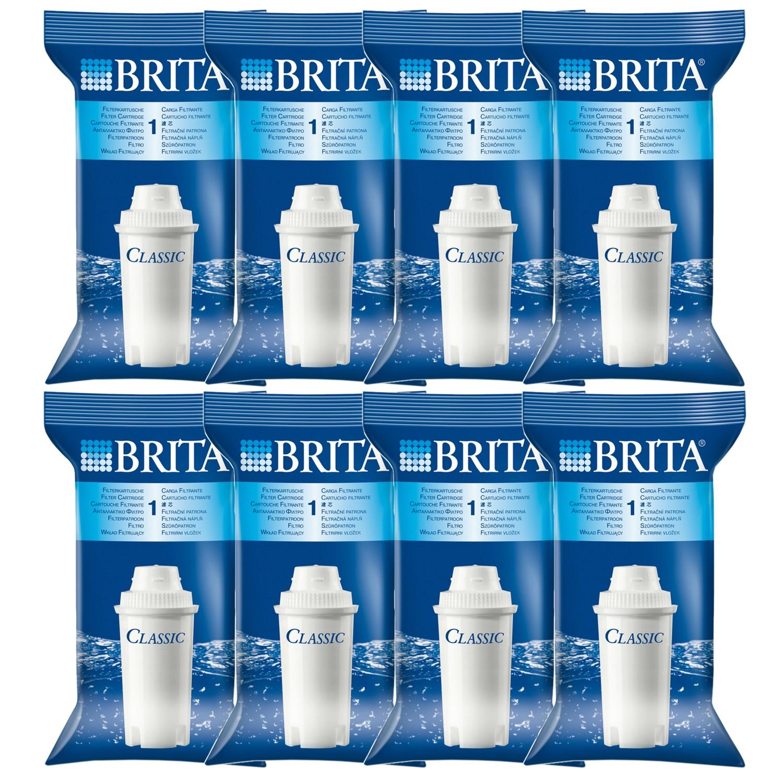 pack of 8 brita classic replacement water filter jug cartridges original new ebay. Black Bedroom Furniture Sets. Home Design Ideas