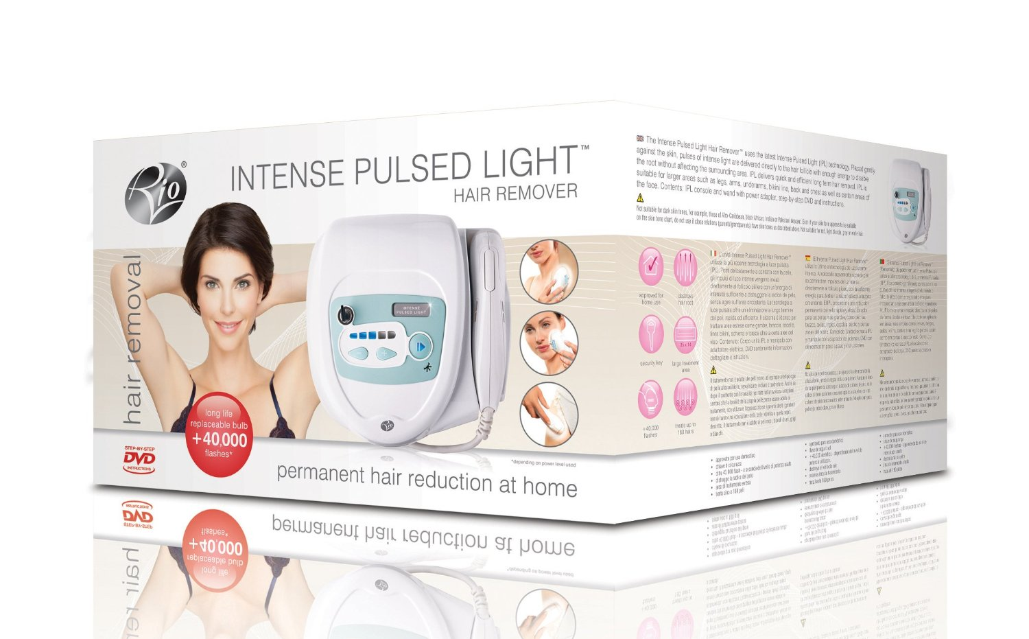 Rio IPL 8000 Intense Pulsed Light Hair Remover Permanent Removal System New