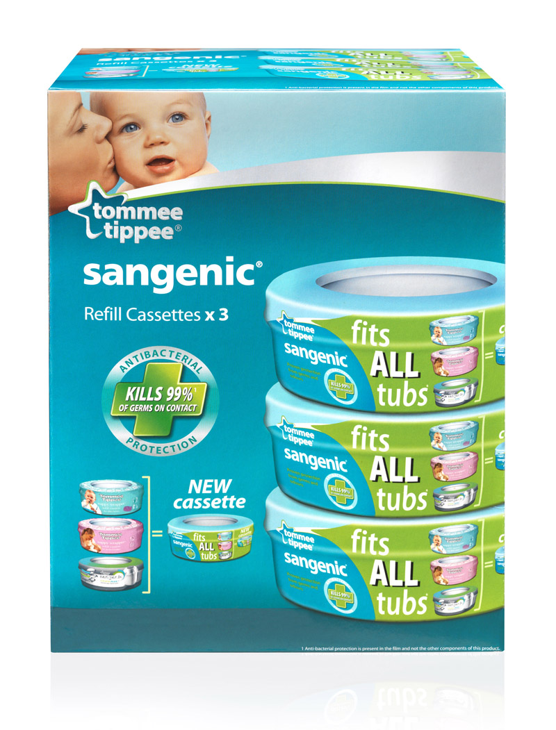 tommee tippee sangenic nappy disposal system refills cassettes triple pack 3 ebay. Black Bedroom Furniture Sets. Home Design Ideas