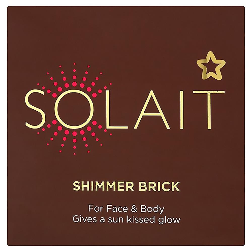 NEW SUPERDRUG SOLAIT BRONZER MAKE UP FACE BODY SUN KISSED GLOW SHIMMER BRICK