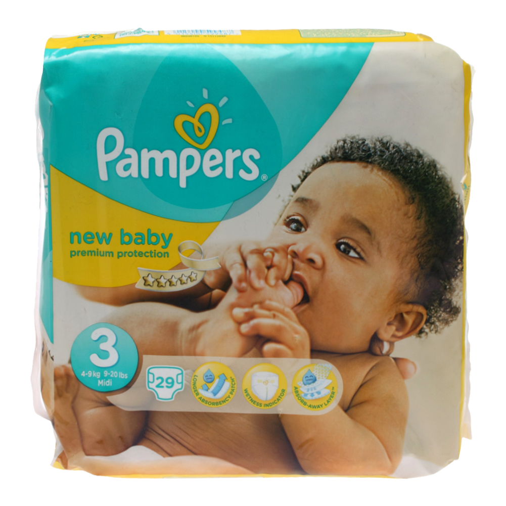 new pers new baby size 3 midi premium protection carry pack of 29 nappies ebay