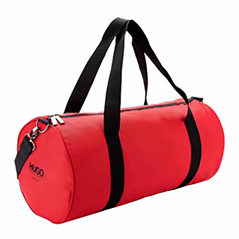NEW MENS HUGO BOSS RED SPORTS GYM FITNESS HOLDALL DUFFLE CROSS SHOULDER BAG
