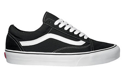 vans skool trainers black white school shoes ebay