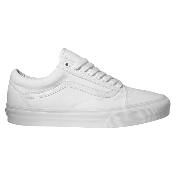 vans old skool trainers true white old school shoes ebay. Black Bedroom Furniture Sets. Home Design Ideas