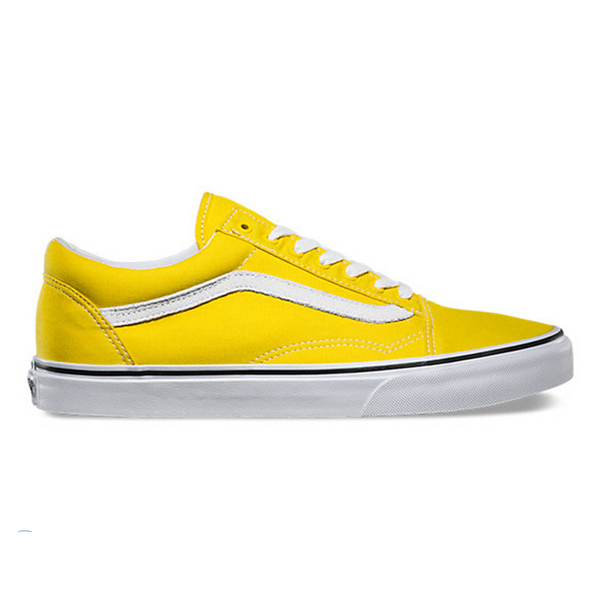 vans old skool trainers vibrant yellow white old school shoes ebay. Black Bedroom Furniture Sets. Home Design Ideas