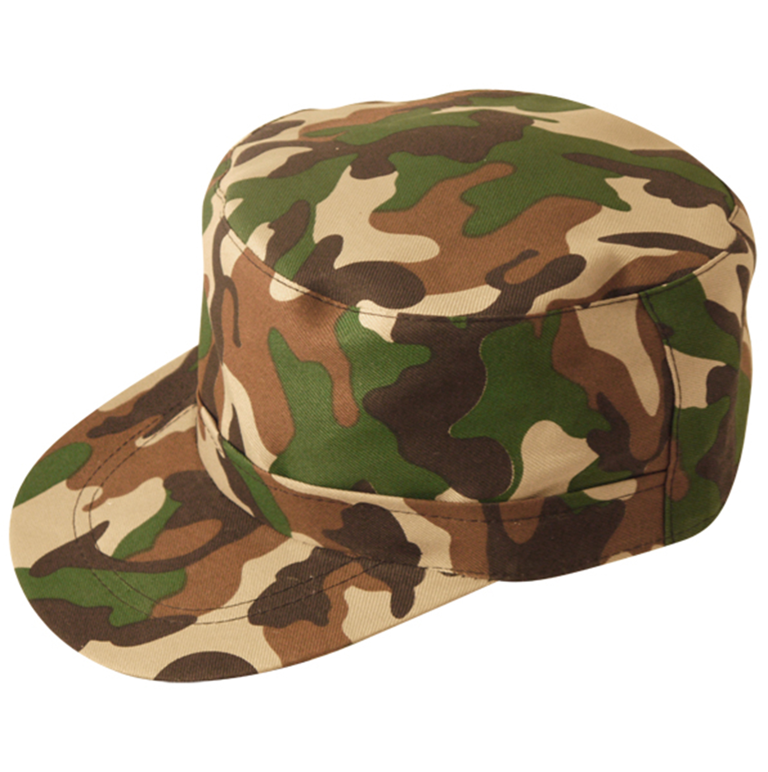 ADULTS ARMY SOLDIER CAMOUFLAGE HAT MILITARY CAP UNISEX FANCY DRESS