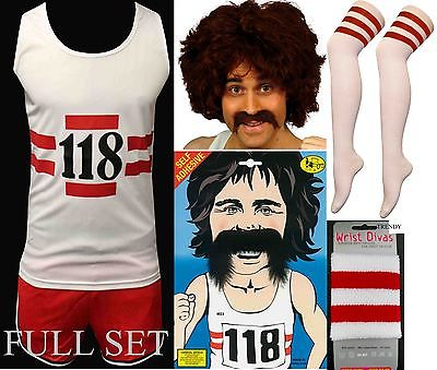 118-LADIES-MEN-S-FANCY-DRESS-COSTUME-MARATHON-RETRO-VEST-SHORTS-TASH-SOCKS-WIG