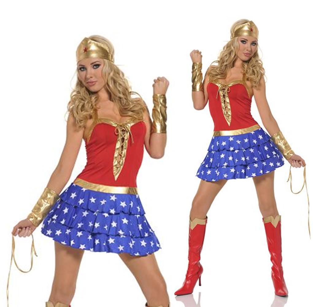 Damen Retro Wunder Damen Damenkostu00fcm Super Heroin Comic Character Outfit   eBay