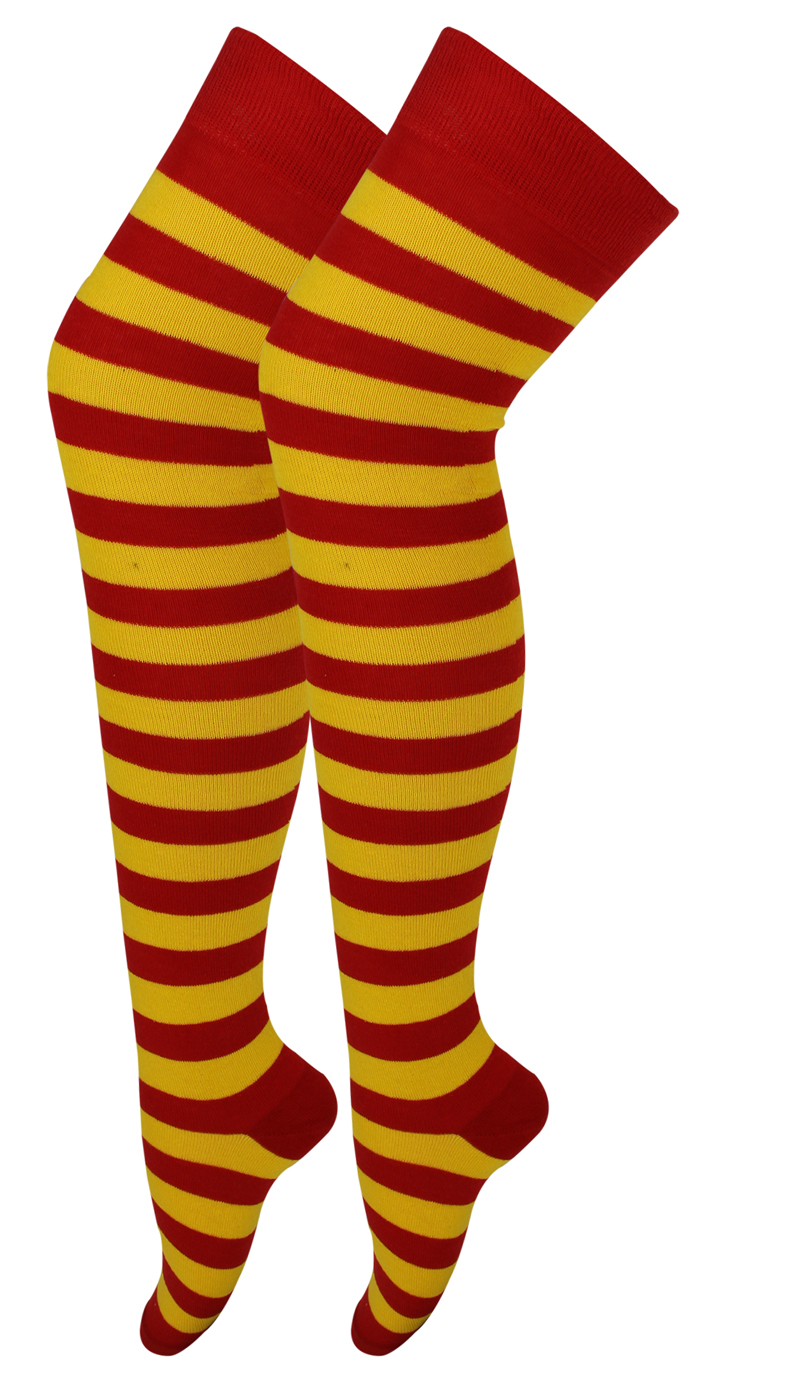 f14032fb3a658 NEW LADIES WOMENS OVER THE KNEE STRIPED SOCKS LADIES THIGH HIGH .