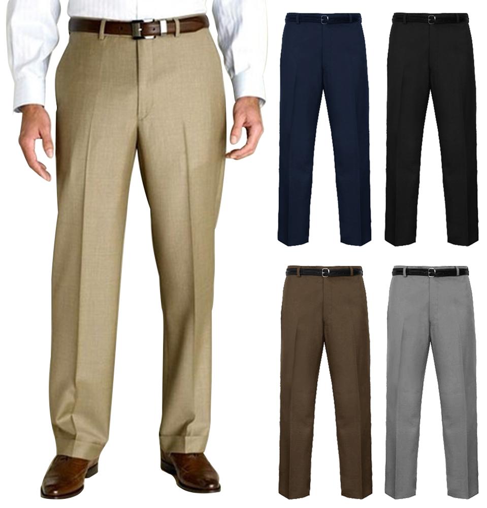 Mens Office Wear Trousers Business Formal Pants Waist 32u0026quot; - 50u0026quot; U0026 Leg 27u0026quot; - 33u0026quot; | EBay