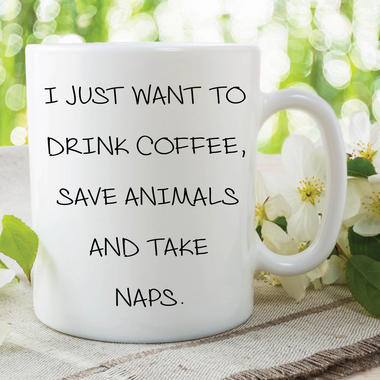 Funny Novelty Mugs Joke Adult Humour Drink Coffee Save Animals Friend WSDMUG619 Thumbnail 1