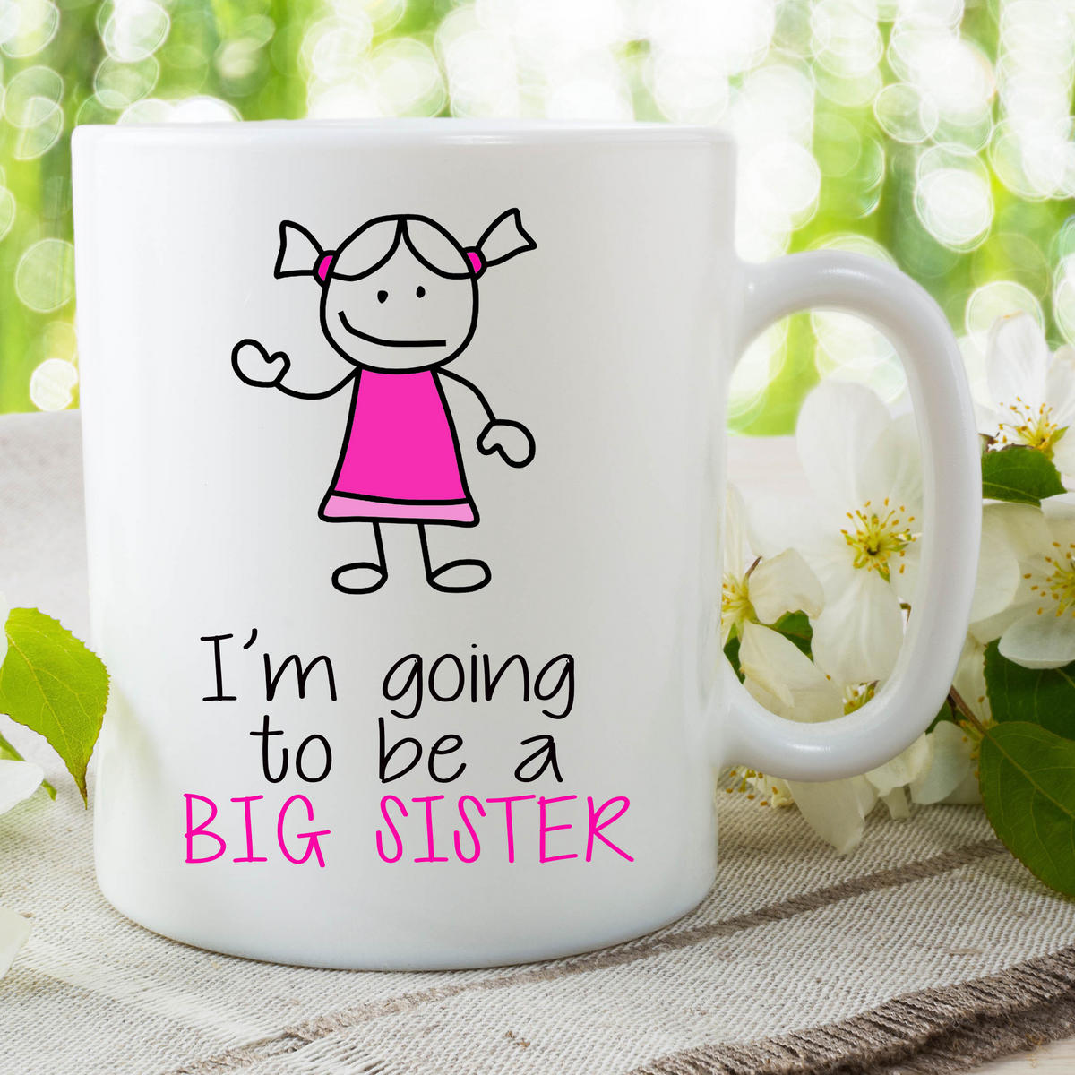 I'm Going To Be A Big Sister Mug Gift For Daughter Surprise Baby Gift WSDMUG660