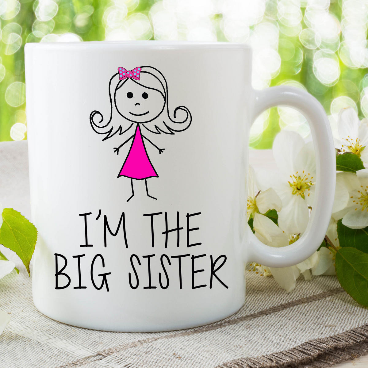 I'm The Big Sister Mug Gift For Daughter Surprise Baby Announcement WSDMUG640