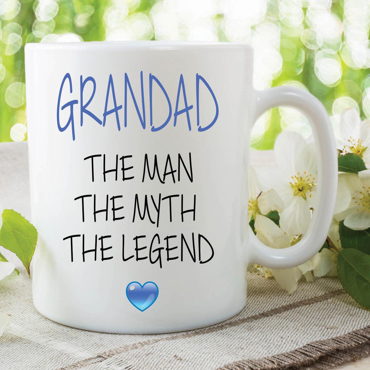 Novelty Grandad Mug The Man The Myth The Legend Gift Fathers Day Cup WSDMUG638