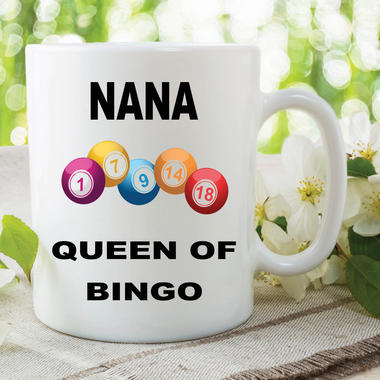 Funny Novelty Mugs Joke Adult Humour Nana Queen Bingo Mothers Day Cups WSDMUG609 Thumbnail 1