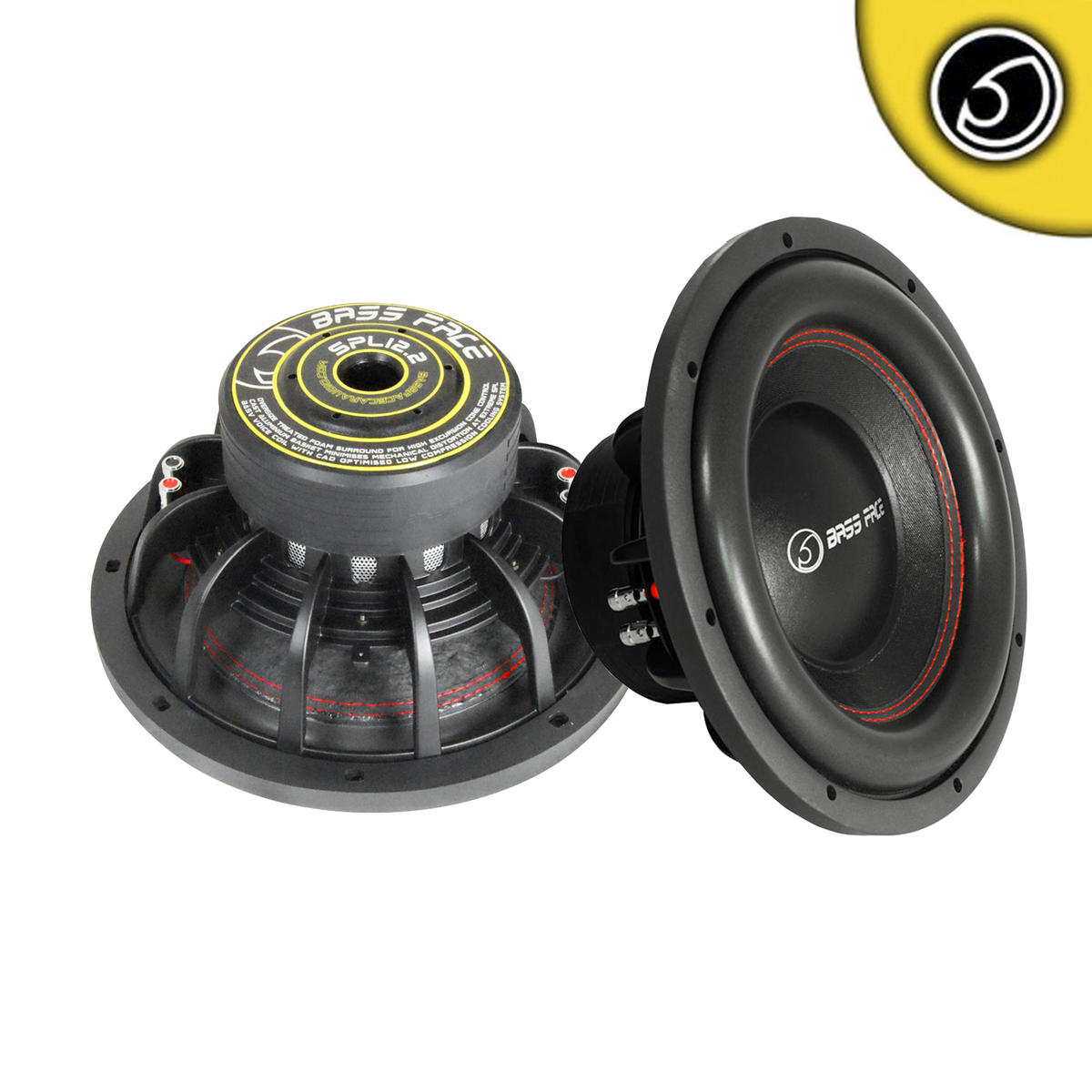 "Bass Face 12"" 30cm 2500w Car Audio Subwoofers SQ SPL Competition Pair Subs"