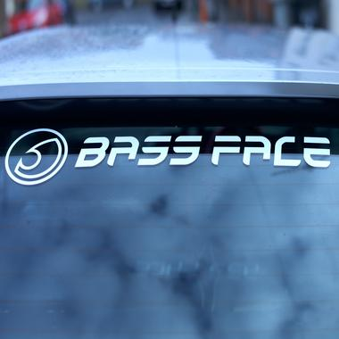 "Bassface BFS.1 Large Car Rear Window Decal Vinyl 24"" Inch 60cm Thumbnail 2"