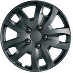 "Ring Automotive RWT1574 Car Van 15"" Jet Matt Black Wheel Trims Pack of 4"
