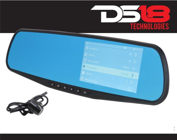 "DS18 EAGLEBT Rearview Mirror 4.3"" LCD Display 1080P Dash Cam Recorder and Camera Thumbnail 1"