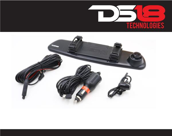 "DS18 EAGLEBT Rearview Mirror 4.3"" LCD Display 1080P Dash Cam Recorder and Camera Thumbnail 2"