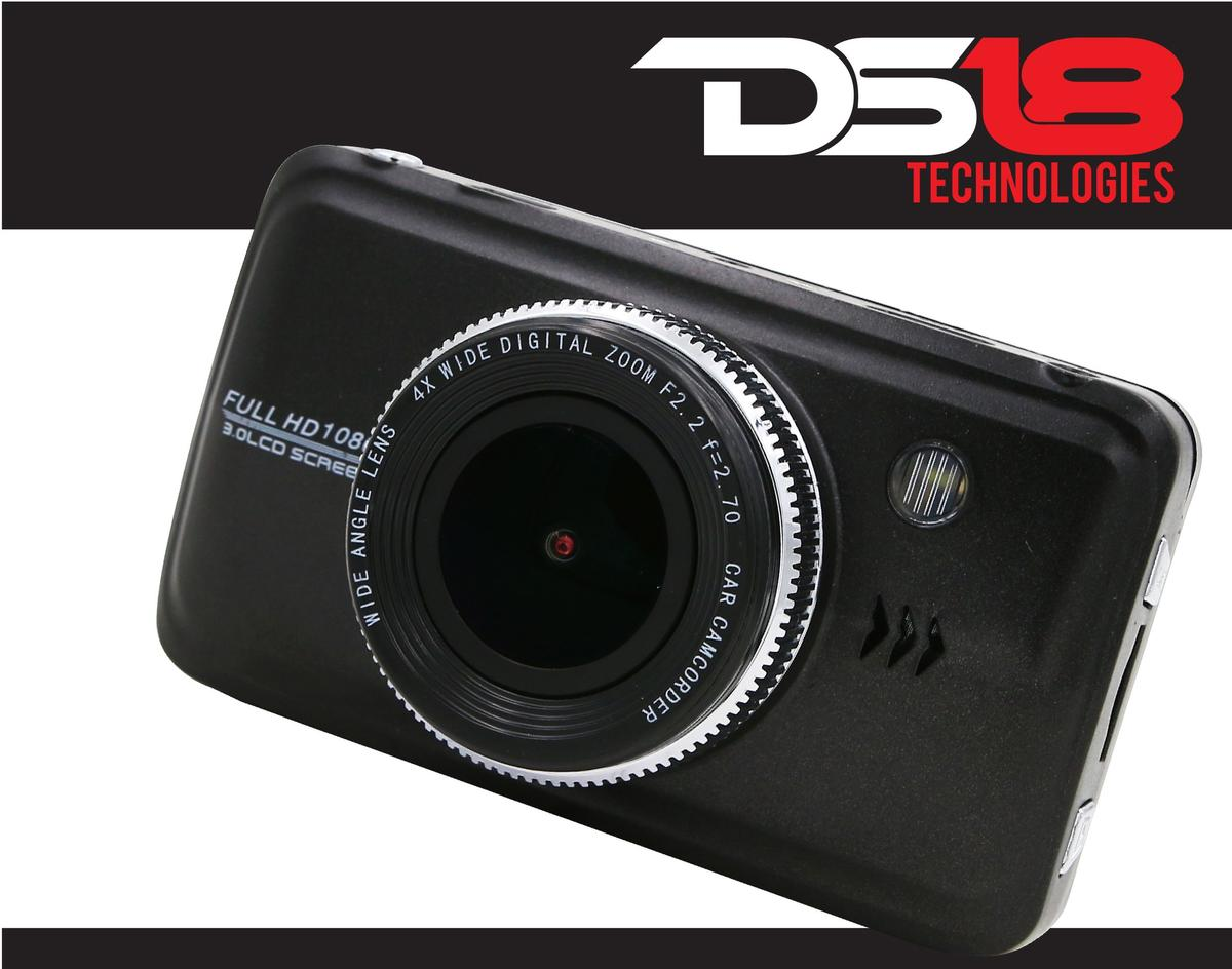 "DS18 BLACKBOX Dash Camera 3"" LCD 1080P Wide Angle Dash Cam Recorder with G-Sensor"
