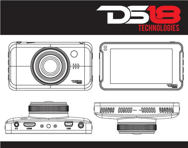 "DS18 BLACKBOX Dash Camera 3"" LCD 1080P Wide Angle Dash Cam Recorder with G-Sensor Thumbnail 3"