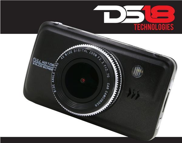 "DS18 BLACKBOX Dash Camera 3"" LCD 1080P Wide Angle Dash Cam Recorder with G-Sensor Thumbnail 1"