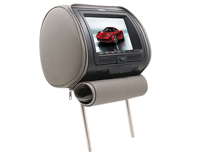 "DS18 HPKG92DVD Car Audio Twin 9"" AV DVD Black Grey Beige Headrest LCD Screen Thumbnail 2"