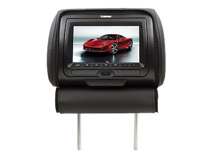 "DS18 HPKG92DVD Car Audio Twin 9"" AV DVD Black Grey Beige Headrest LCD Screen Thumbnail 3"
