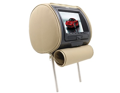 "DS18 HPKG92DVD Car Audio Twin 9"" AV DVD Black Grey Beige Headrest LCD Screen Thumbnail 4"