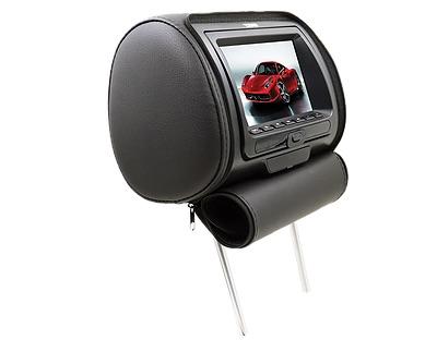 "DS18 HPKG92DVD Car Audio Twin 9"" AV DVD Black Grey Beige Headrest LCD Screen Thumbnail 5"