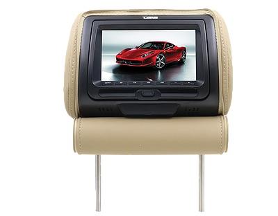 "DS18 HPKG92DVD Car Audio Twin 9"" AV DVD Black Grey Beige Headrest LCD Screen Thumbnail 8"