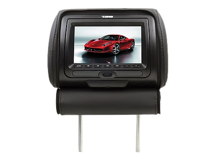 "DS18 HPKG-7DVD In Car 7"" AV Monitor 12V Headrest 3 Colours Black Tan Grey Single Thumbnail 2"