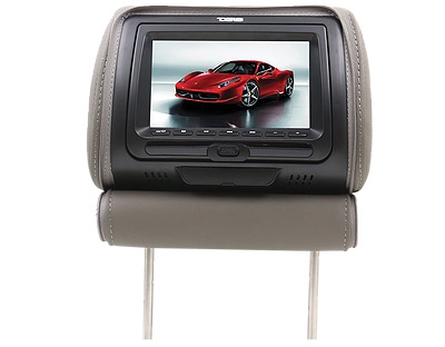 "DS18 HPKG-7DVD In Car 7"" AV Monitor 12V Headrest 3 Colours Black Tan Grey Single Thumbnail 4"