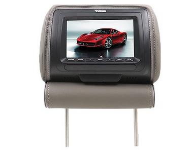 "DS18 HPKG-9TBG Car Audio 9"" AV Black Grey Beige Headrest LCD Screen Thumbnail 2"