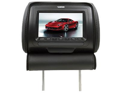 """DS18 HPKG-7B In Car Entertainment 7"""" AV Monitor 12V Headrest Black Single Thumbnail 3"""