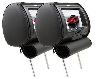 """DS18 HPKG-7B In Car Entertainment 7"""" AV Monitor 12V Headrest Black Single Thumbnail 1"""