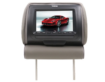 "DS18 HPKG-7G In Car Entertainment 7"" AV Monitor 12V Headrest Grey Single"