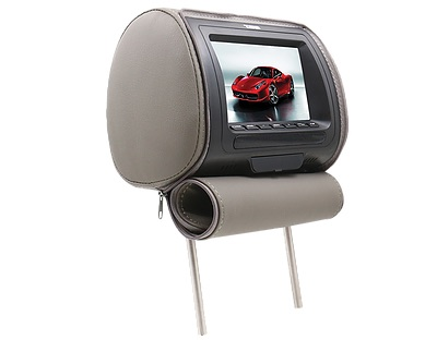"DS18 HPKG-7G In Car Entertainment 7"" AV Monitor 12V Headrest Grey Single Thumbnail 2"
