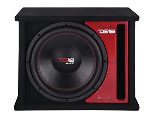 """DS18 SLC112X Car Audio Single 12"""" 500 Watts 4 Ohm Sub in Vented Ported Enclosure"""