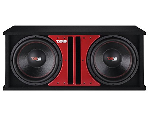 "DS18 SLC212X Car Audio Double 12"" 1000 Watts 4 Ohm Sub in Vented Ported Enclosure"