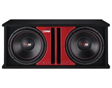 "DS18 SLC212X Car Audio Double 12"" 1000 Watts 4 Ohm Sub in Vented Ported Enclosure Thumbnail 1"
