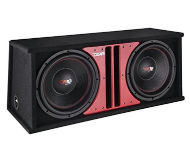 "DS18 SLC212X Car Audio Double 12"" 1000 Watts 4 Ohm Sub in Vented Ported Enclosure Thumbnail 2"