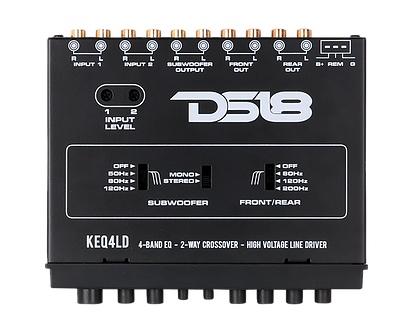 DS18 KEQ4LD KEQ4LD Car Audio 4 Band Equalizer 2-Way Crossover Line Driver Single Thumbnail 3